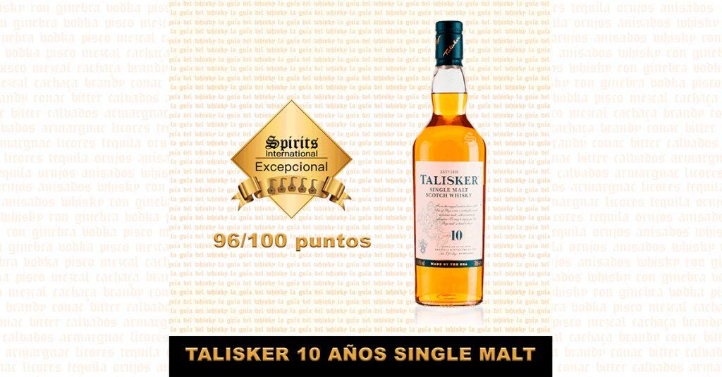 Whisky talisker 10 años fondo